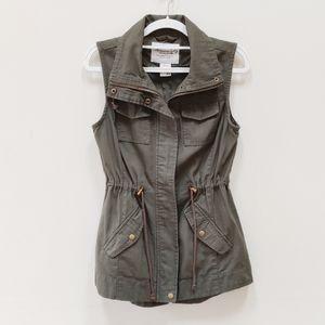 American Rag Cie| Army Green Utility Vest Size XS
